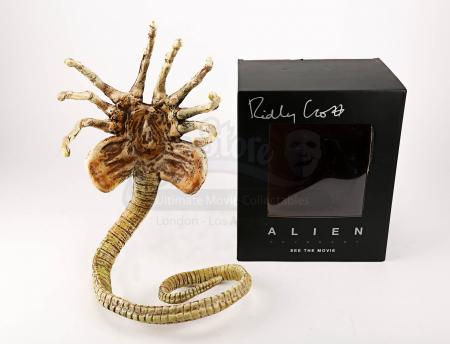 Lot # 6 - ALIEN: COVENANT - Ridley Scott Autographed Face Hugger