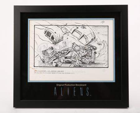 Lot # 7 - ALIENS - Original Production Storyboard - Drop Ship Explodes