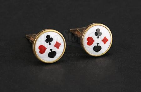Lot # 18 - BATMAN - Joker (Jack Nicholson) Pair of Cufflinks