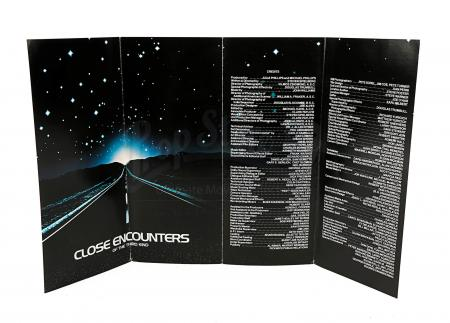 Lot # 42 - CLOSE ENCOUNTERS OF THE THIRD KIND - Press Leaflet