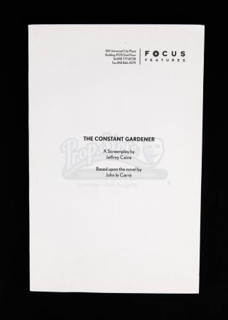 Lot # 43 - CONSTANT GARDENER, THE - Award Consideration Script