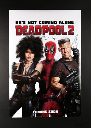 Lot # 53 - DEADPOOL 2 - Ryan Reynolds and Josh Brolin Signed US 1 Sheet Poster