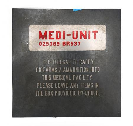 Lot # 67 - DREDD - Medi-Unit Sign