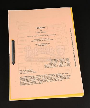 Lot # 71 - ERAGON - Production-Used Script