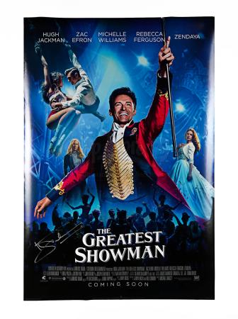 Lot # 94 - GREATEST SHOWMAN, THE - Hugh Jackman Signed US 1 Sheet Poster