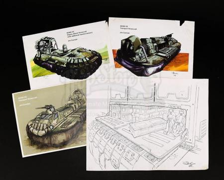 Lot # 107 - JAMES BOND: DIE ANOTHER DAY - Hovercraft Artwork