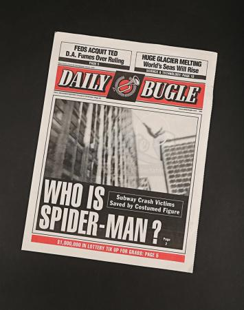 Lot # 168 - SPIDER-MAN - Daily Bugle Newspaper Cover