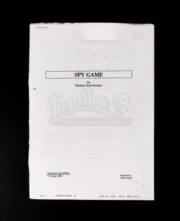 Lot # 169 - SPY GAME - Production-Used Script