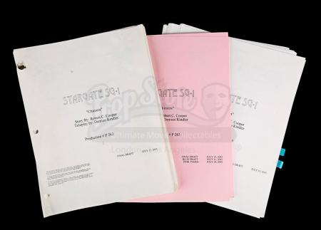 "Lot # 177 - STARGATE SG-1 - Set of ""Chimera"" Episode Scripts"