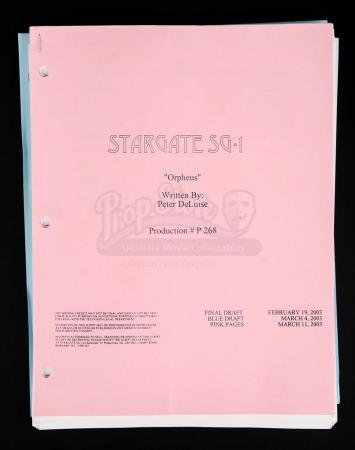 "Lot # 178 - STARGATE SG-1 - Set of ""Orpheus"" Episode Scripts"
