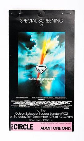 Lot # 181 - SUPERMAN - Crew Screening Ticket