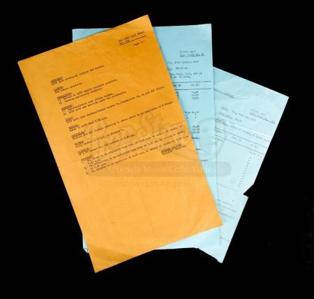 Lot # 182 - SUPERMAN - Set of Three Call Sheets