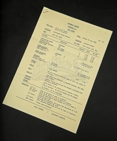 Lot # 183 - SUPERMAN III - Call Sheet No. 25