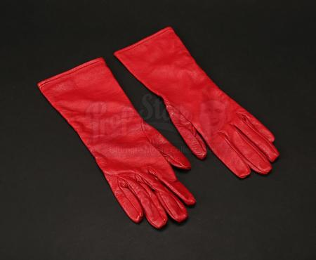 Lot # 189 - ULTRAVIOLET - Violet (Milla Jovovich) Red Gloves