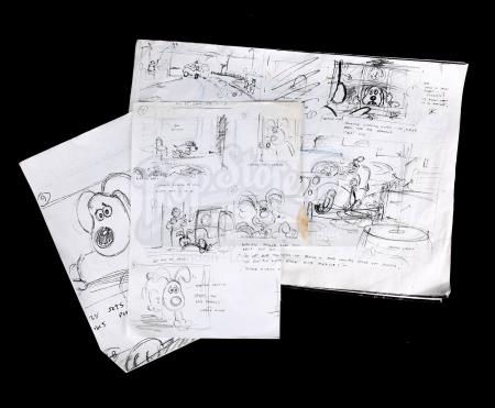 Lot # 192 - WALLACE & GROMIT: THE CURSE OF THE WERERABBIT - Set of Storyboards