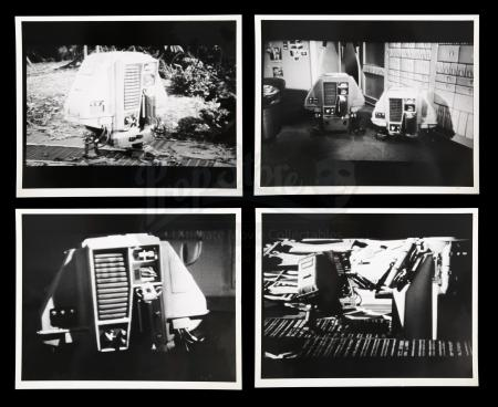 Lot # 14 - Harry Lange Auction - Set of Four Silent Running Reference Production Stills of Drones for R2-D2 Concept Design