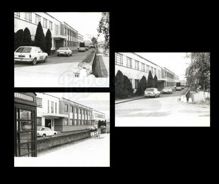 Lot # 27 - Harry Lange Auction - Set of Three Photographs of Elstree Studio Exterior