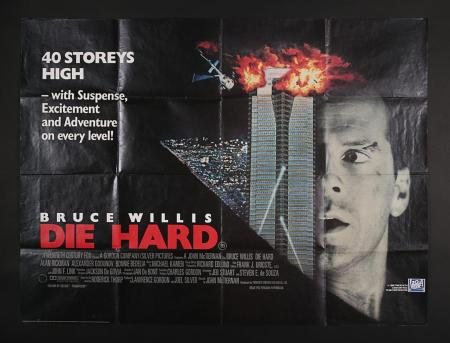 Lot #4 - DIE HARD (1988) - UK Quad Poster 1988