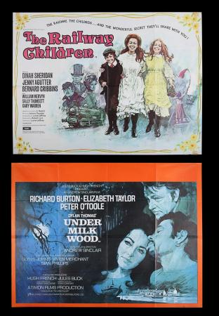 Lot #8 - UNDER MILK WOOD (1971) AND THE RAILWAY CHILDREN (1970) - UK Quad Poster 1971