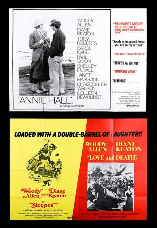 Lot #41 - ANNIE HALL (1977) AND SLEEPER (1973) / LOVE AND DEATH (1975) - Two UK Quad Posters c1976-77 and 1977
