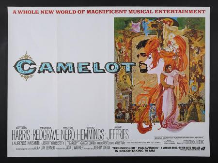"Lot #110 - CAMELOT (1967) - UK Quad ""Style-B"" Poster 1967"