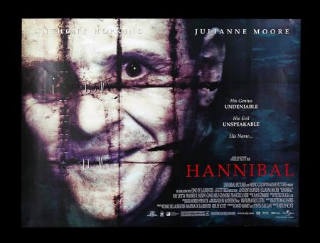 "Lot #253 - HANNIBAL (2001) - UK Quad ""Withdrawn"" Poster 2001"