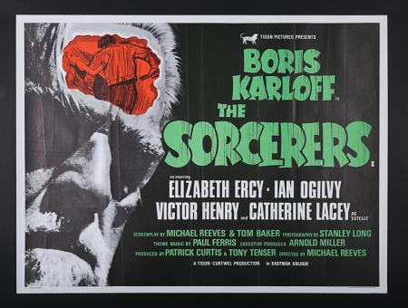 Lot #305 - THE SORCERERS (1967) - UK Quad Poster 1967