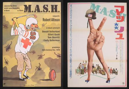 Lot #335 - MASH (1970) - Polish Poster 1970 and Japanese B2 Poster 1976 Re-Release