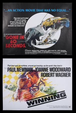 Lot #6 - WINNING (1969) AND GONE IN 60 SECONDS (1974) - Two UK Quad Posters 1969 and 1974