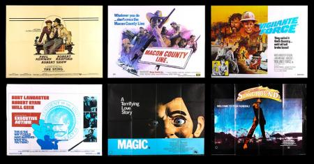 Lot #10 - VARIOUS PRODUCTIONS (1974-83) - Six UK Quad Posters 1974-83