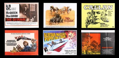 Lot #11 - VARIOUS PRODUCTIONS (1971-77) - Six UK Quad Posters 1971-77