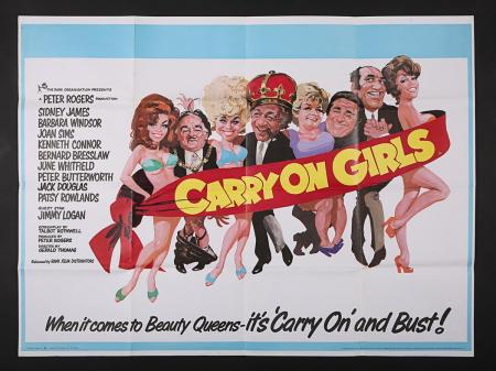 Lot #39 - CARRY ON GIRLS (1973) - UK Quad Poster 1973