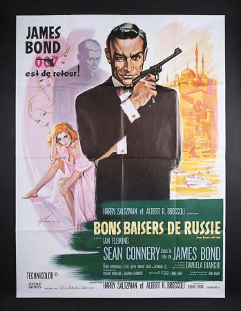 Lot #123 - JAMES BOND: FROM RUSSIA WITH LOVE (1963) - French Grand Affiche1970s Re-Release