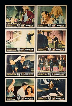 Lot #127 - JAMES BOND: GOLDFINGER (1964) - Set of Eight US Lobby Cards 1964