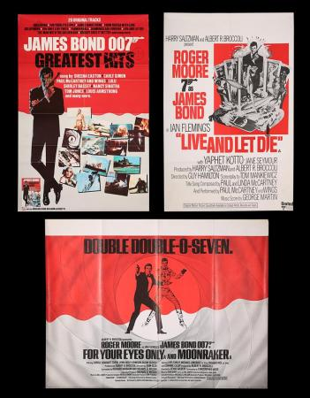Lot #163 - JAMES BOND: VARIOUS PRODUCTIONS (1973-82) - Three UK Posters 1974-82