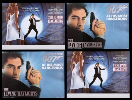 Lot #164 - JAMES BOND: THE LIVING DAYLIGHTS (1987) - Four UK Quad Posters 1987
