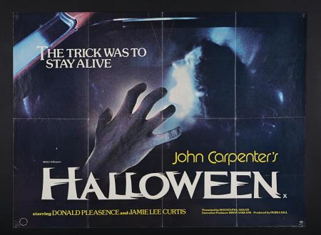 Lot #252 - HALLOWEEN (1978) - UK Quad Poster 1978