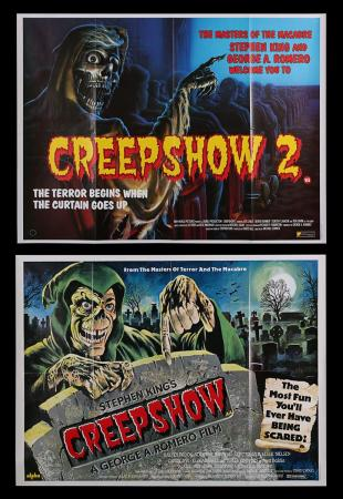 Lot #260 - CREEPSHOW (1982) AND CREEPSHOW 2 (1987) - Two UK Quad Posters 1982-87