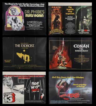 Lot #264 - VARIOUS PRODUCTIONS (1972-84) - Eight UK Quad Posters 1972-84