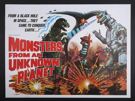 Lot #266 - MONSTERS FROM AN UNKNOWN PLANET (1975) - UK Quad Poster 1975