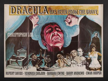 Lot #282 - DRACULA HAS RISEN FROM THE GRAVE (1968) - UK Quad Poster 1968