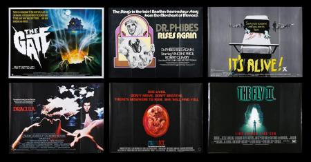 Lot #290 - VARIOUS PRODUCTIONS (1972-89) - Six UK Quad Posters 1972-89