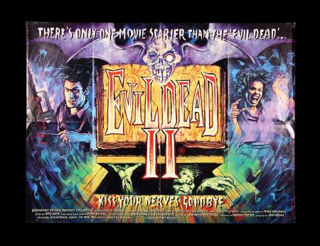 Lot #292 - EVIL DEAD II (1987) - UK Quad Poster 1987