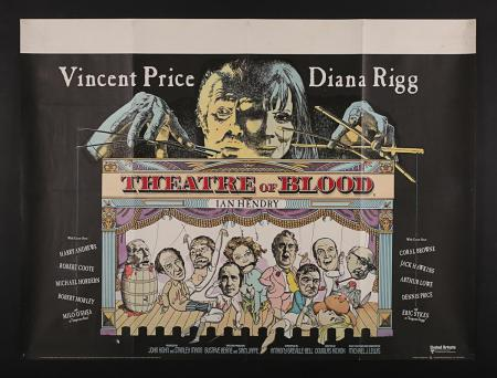 Lot #306 - THEATRE OF BLOOD (1973) - UK Quad Poster 1973