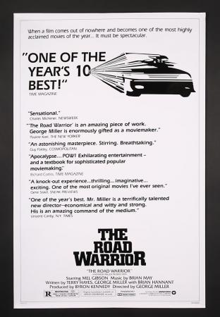 "Lot #358 - MAD MAX 2: THE ROAD WARRIOR (1982) - US One-Sheet ""Reviews"" Poster 1982"