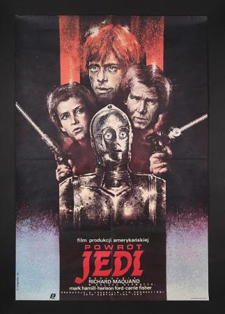"Lot #408 - STAR WARS: EPISODE VI: RETURN OF THE JEDI (1983) - Polish ""Style-B"" Poster 1984"