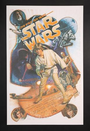 "Lot #410 - STAR WARS: ANNIVERSARY (1978-1987) - US One-Sheet Autographed ""Struzan Anniversary"" Poster 1987"