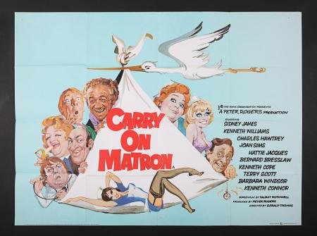 Lot #38 - CARRY ON MATRON (1972) - UK Quad Poster 1972