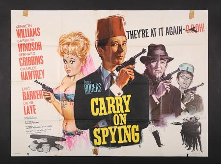 Lot #19 - CARRY ON SPYING (1964) - UK Quad Poster 1964