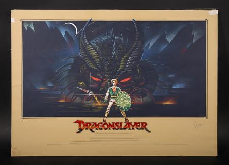 Lot #353 - DRAGONSLAYER (1981) - UK Original Concept Quad Poster Artwork 1981